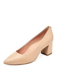 Taryn Rose Madline Leather Pointed Pumps Nude