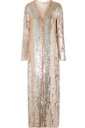 Temperley London Bardot Sequined Chiffon Coat Pastel Pink Gbp