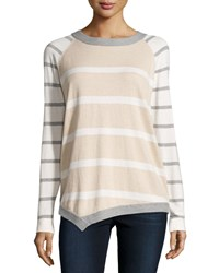Lafayette 148 New York Asymmetric Cashmere Blend Sweater Melba Multi
