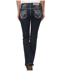 Rock And Roll Cowgirl Low Rise Bootcut In Dark Vintage W6 3634 Dark Vintage Women's Jeans Navy