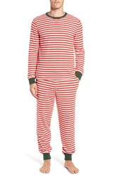 Nordstrom Shop Family Father Thermal Pajamas Red Bloom Even Stripe