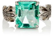 Cathy Waterman Women's Emerald Leafside Ring Colorless
