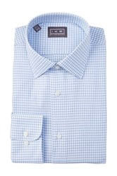 Ike Behar Oxford Check Full Fit Dress Shirt White