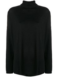 Snobby Sheep Roll Neck Knit Pullover Black