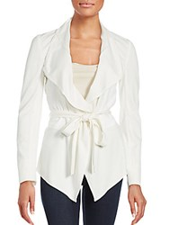 Magaschoni Tie Up Belt Solid Jacket White