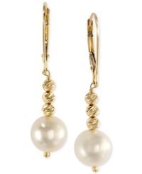Effy Collection Effy Cultured Freshwater Pearl Drop Earrings In 14K Gold 8 1 2Mm Yellow Gold