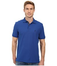 Nautica Short Sleeve Solid Deck Shirt True Blue Men's Short Sleeve Knit