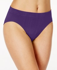 Bali One Smooth U All Over Smoothing High Cut Brief 2362 Purple Vista