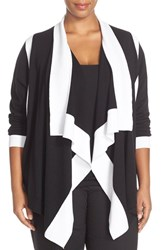 Plus Size Women's Foxcroft Colorblock Cardigan