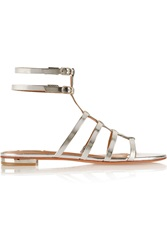 Schutz Charleigh Metallic Leather Gladiator Sandals