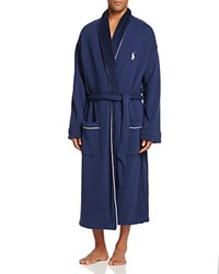 Polo Ralph Lauren Fleece Lined Shawl Collar Robe Cruise Navy