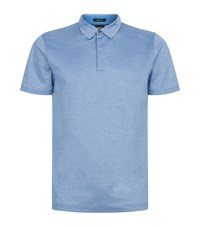 Boss Cotton Polo Shirt Blue