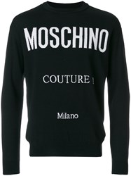 Moschino Couture Milano Sweater Virgin Wool Black