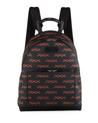 Ermenegildo Zegna Xxx Coated Canvas Backpack Black Brown