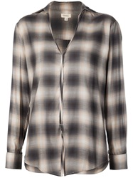 Crippen Check Print Shirt Black