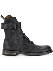 Ann Demeulemeester Buckle Strap Ankle Boots Men Leather 41 Black