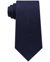 Club Room Men's Nonsolid Silk Tie Created For Macy's Navy