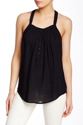 Autograph Addison Ruffled Trim Tank Black