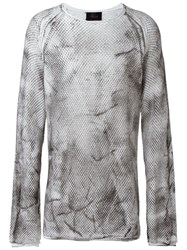 Lost And Found Ria Dunn Distressed Jumper Grey