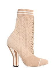 Fendi 105Mm Stretch Knit Ankle Boots
