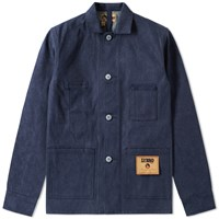 Nigel Cabourn X Lybro 6 Pocket Rail Jacket Blue