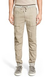 Men's Vince 'Flight' Linen Blend Jogger Pants Vintage Khaki