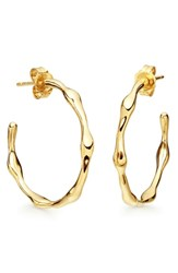 Missoma Golden Medium Molten Hoop Earrings