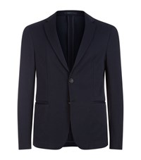 Armani Collezioni Deconstructed Jersey Blazer Male Navy