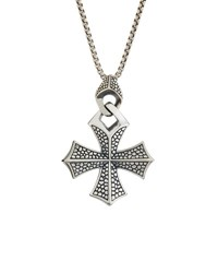 Stephen Webster Men's Rayman Templar Cross Pendant Necklace Silver