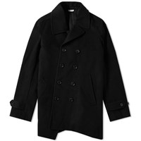 Comme Des Garcons Homme Plus Double Breasted Pea Coat Black