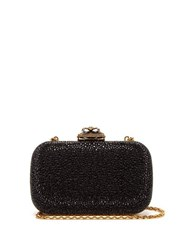 Alexander Mcqueen Spider Crystal Embellished Leather Clutch Black