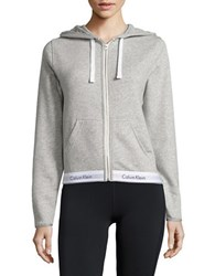Calvin Klein Lounge Long Sleeve Hoodie Heather Grey