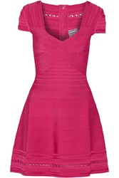 Herve Leger Bandage Mini Dress Pink
