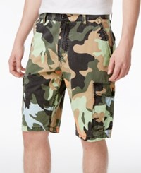 Lrg Men's B And T Cotton Cargo Shorts Salmoncamo
