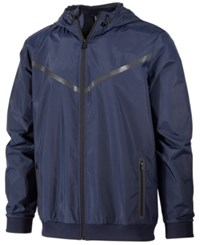 Ideology Id Men's Water Resistant Hooded Jacket Only At Macy's Navy Blue
