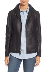 Women's Marc New York By Andrew Marc Lambskin Leather Jacket Black