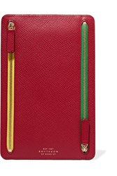 Smythson Panama Textured Leather Wallet One Size