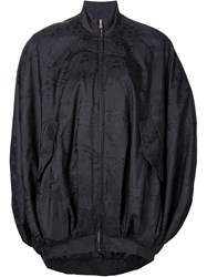 Moschino Danger Sign Cocoon Jacket Black
