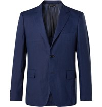 Massimo Piombo Mp Linen Suit Jacket Blue