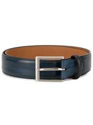 Magnanni Brushed Effect Belt Blue