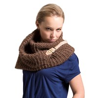 Bare Knitwear Alpaca Buckle Cowl Tan
