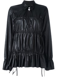 Maison Martin Margiela Mm6 Drawstring Detail Blouse Black