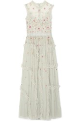 Needle And Thread Sequin Embellished Tulle Gown Mint