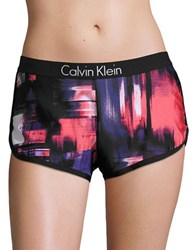 Calvin Klein Printed Board Shorts Mulberry