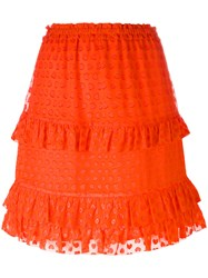 Tory Burch Embroidered Madison Skirt