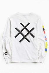 Lucid Fc Nautical Flags Long Sleeve Tee White