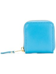Comme Des Garcons Wallet Mini Pouch Unisex Calf Leather One Size Blue