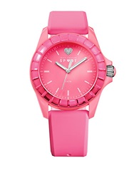 Juicy Couture Ladies Hot Pink Dip Dye Ombre Sport Watch