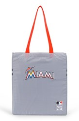 Herschel Supply Co. Packable Mlb National League Tote Bag Grey Miami Marlins