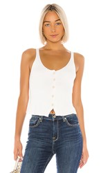 7 For All Mankind Button Up Tank In Ivory.